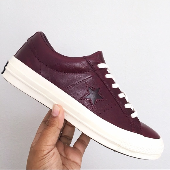 tranquilo cliente lanzadera  Converse Shoes | Converse One Star Ox Red Ochre Leather Shoes | Poshmark
